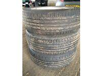165 65 r14 tyres x3 on saxo wheels