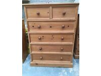 Large solid pine chest of drawers local delivery