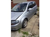 Chevrolet Kalos 2007 57 1.4 1 previous owner low mileage, front easy fix bolt on repair