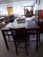 New Bar height table and chairs. SALE $449 new in the box.