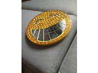 Yellow mosaic emoji mirror
