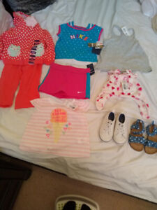 Brand new girl's clothes & shoes (0-24 month)