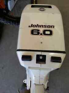 Johnson 6.0hp kicker outboard & owners manual