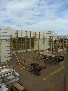 Giraffe Scaffolding system for ICF forms