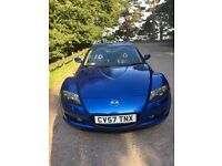 Mazda RX8 231 PS very low mileage in stunning electric blue, excellent condition throughout.