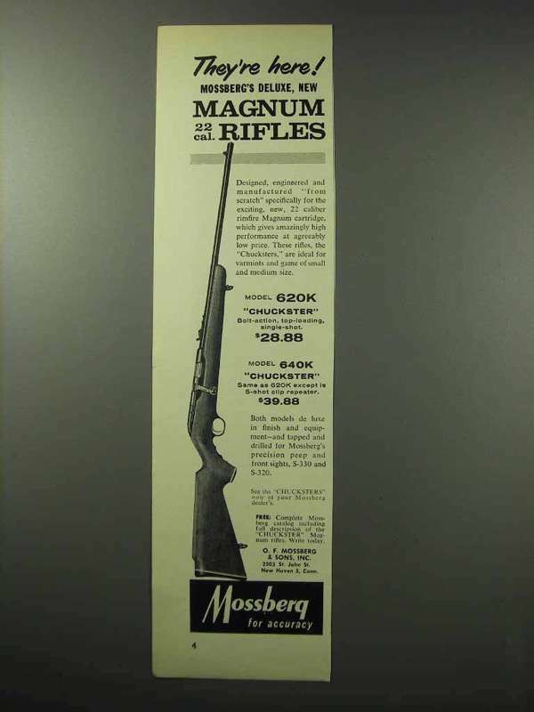 1960 Mossberg 620K Rifle Ad - They