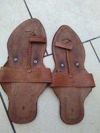Men traditional leather Kohlapur footwear