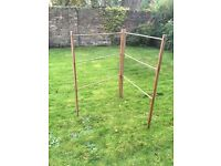 Vintage airer / maiden unfinished wood