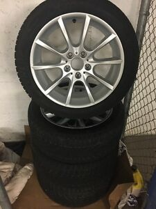 BMW OEM Rims with Run Flat Winter Tires