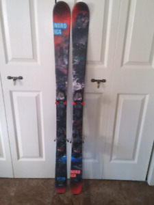 Nordica skis and Solomon boots