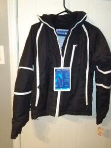 NWT Windproof TRESSPASS Black Ski Jacket Small