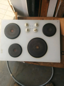 GE built in counter top stove