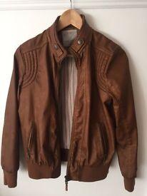 Zara Boys Faux Leather Jacket - Age 11-12y