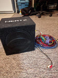 8 Inch Active Subwoofer with built-in Amp and all wiring