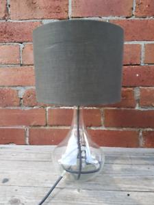 Modernist glass lamp