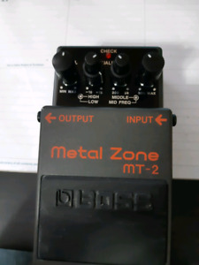 Metal zone with fromel mod. 100 obo.