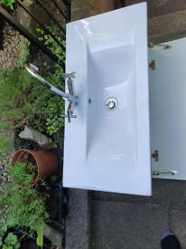 Bathroom sink .