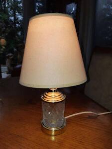 """Beautiful crystal lamp 17""""tallPlease see my other ads"""
