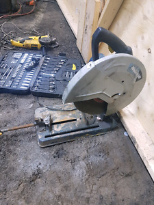 Chop saw for cutting steel
