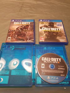 PS4 CALL OF DUTY LOT.  INFINATE, ADVANCED WARFARE AND BLACK OPS3