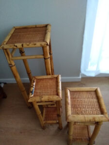 RATTAN PLANT STANDS