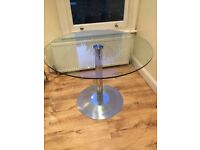 Gorgeous round glass table