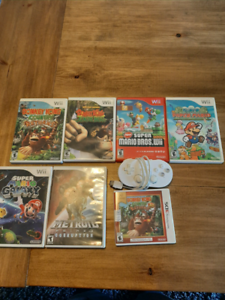 Nintendo Wii games and controller