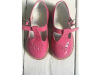 Beberils apples and pairs pink patent toddler shoes uk5