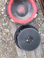 "Two reconed 16"" mid range woofers $100 or best offer"