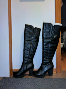 Above knee leather boots NEW PRICE