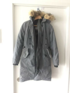 Original Canada Goose parka - light grey, women xs winter coat