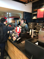 Supervisor position for Starbucks at Trudeau Airport.