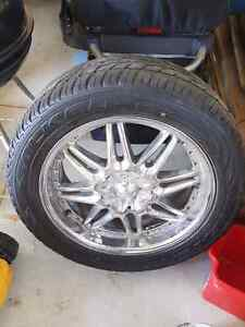 20 Inche triple chrome tires and rims - 5 bolt pattern