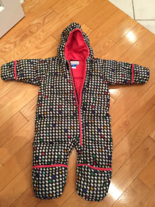 Columbia Snuggle Bunny Down Girl Snowsuit - Size 24 Months old