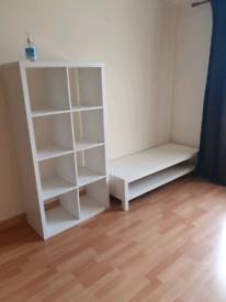 Ikea white storage and TV unit