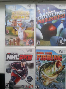 Four Wii Sports  games