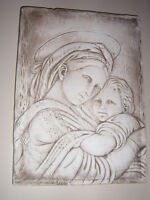 Mother & child plaster wall hanging