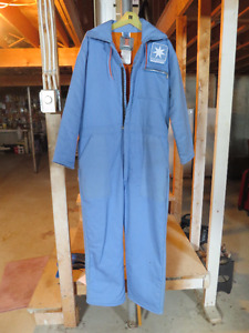 Coveralls are of hight quality, fireproof and regular length.
