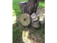 Antique millstone