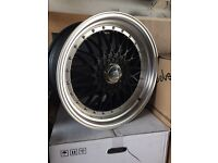 """Brand new 19"""" BBS RS style alloy wheels 5x112 staggered"""