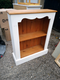 Small painted pine bookcase