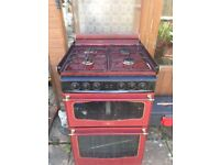 Gas cooker in working order.