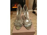 DUNE Silver sandals