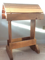 Really nice wooden saddle stand
