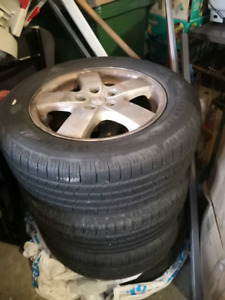 Summer tire with alloy rims