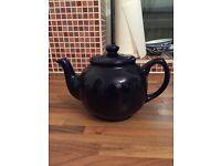 Lovely dark blue China teapot
