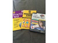 HIGHWAY CODE, THEORY TEST DVD PACK, PRACITCAL TEST BOOK ALL BARELY USED MINT CONDITION