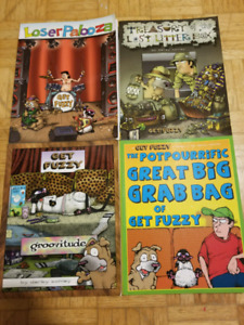 Four Get Fuzzy comic collection books