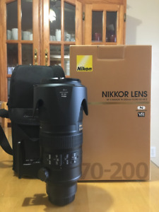 Nikon AF-S NIKKOR 70-200mm f2.8 G ED VR II Lens-Great Condition