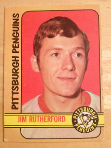 Jim Rutherford 1972-73 O-Pee-Chee OPC Rookie Card Penguins